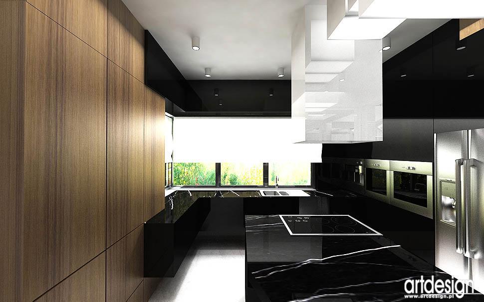 wnętrza domu w krakowie � projekt hol kuchnia