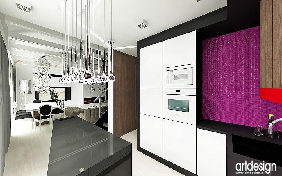 apartament wnętrze styl loft glamour vintage