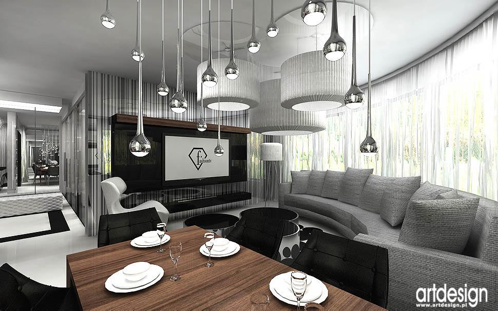 Wnętrza Apartamentu Gdańsk Salon Kuchnia Jadalnia
