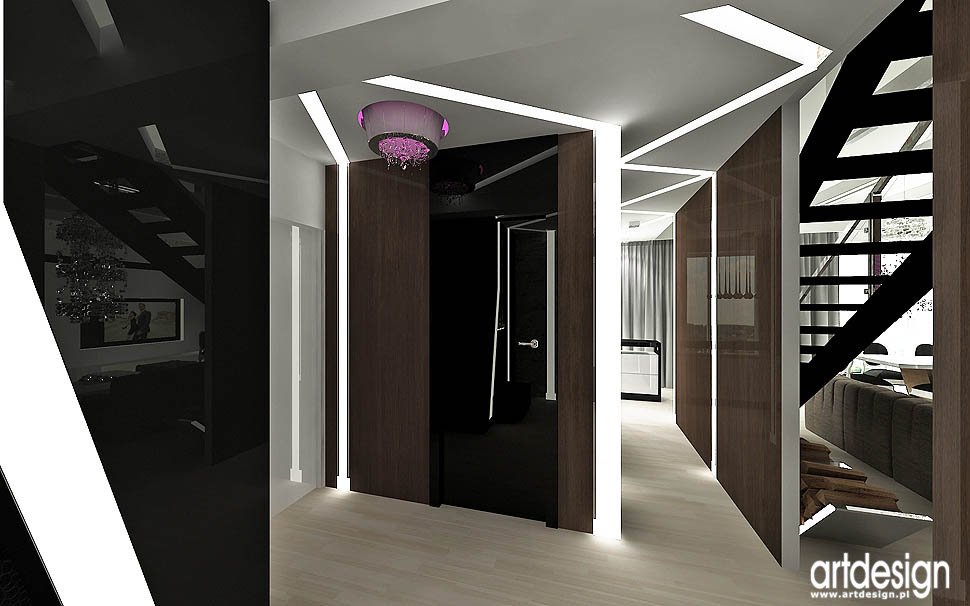 wnetrze hol apartament vintage loft design glamour