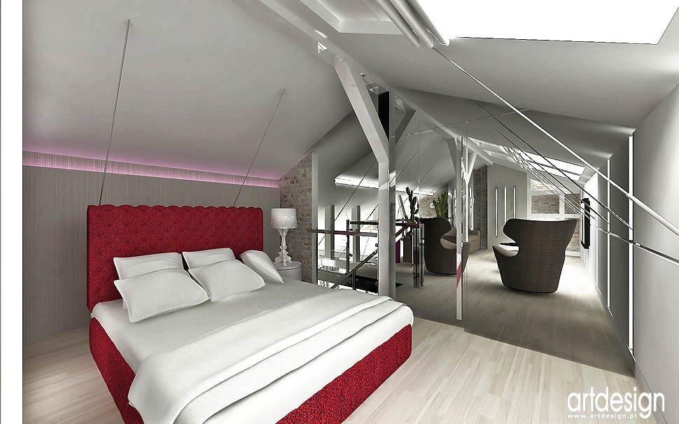 antresola apartament glamour design loft vintage design