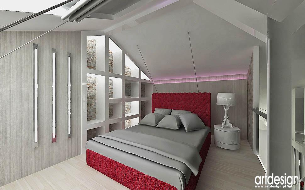 projekty wnętrza apartamenty design projekt loft glamour