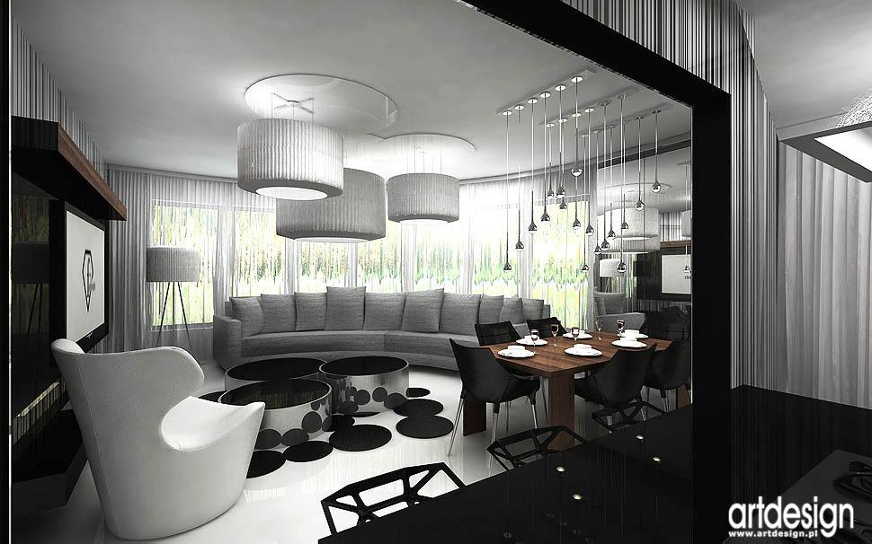 Wn trza apartamentu gda sk salon kuchnia jadalnia for Projekty kuchni z salonem