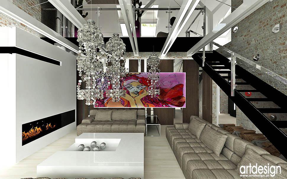 projekt wnetrza styl glamour loft vintage