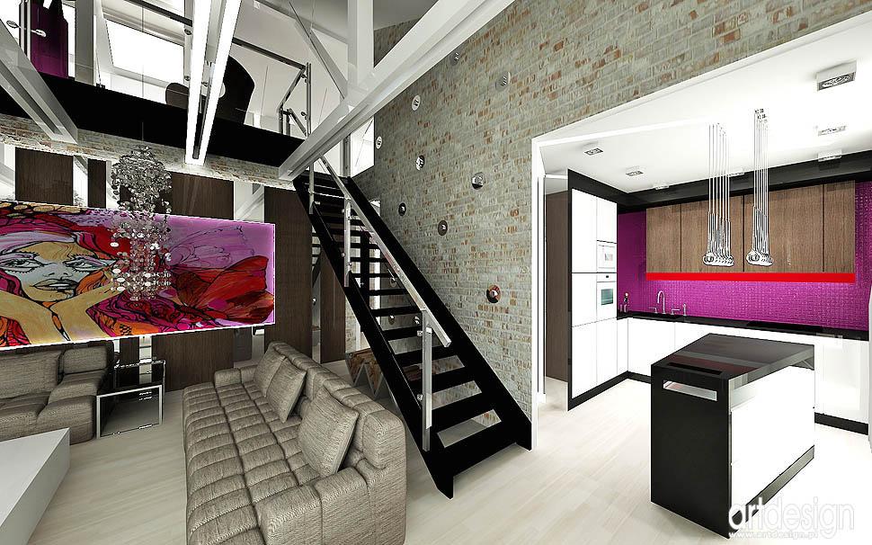 wnetrze projekt glamour design vintage loft