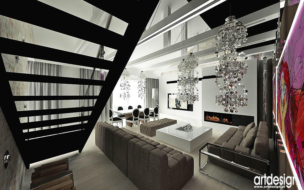 wnetrza nowoczesne loftowy glamour vintage nowoczesny