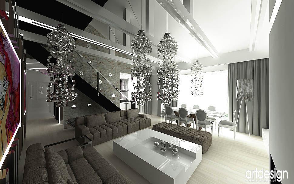 projekt wnetrze styl loft glamour