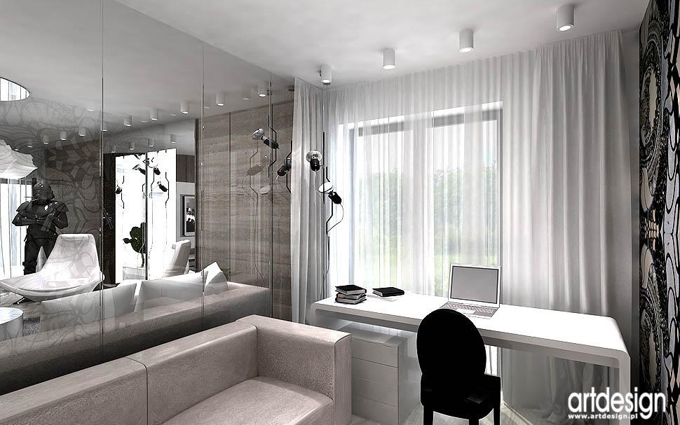 nowoczesny design wnętrz apartamentów projekt gabinetu