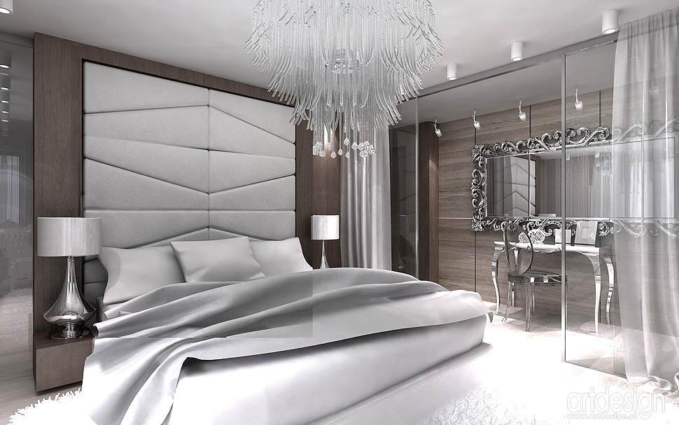 projektowanie wnetrz kraków sypialnia luksusowa