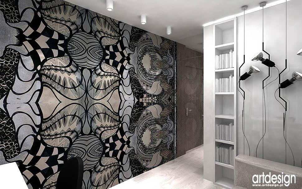 projekty nowoczesnych wnetrz apartamentów domowe biuro