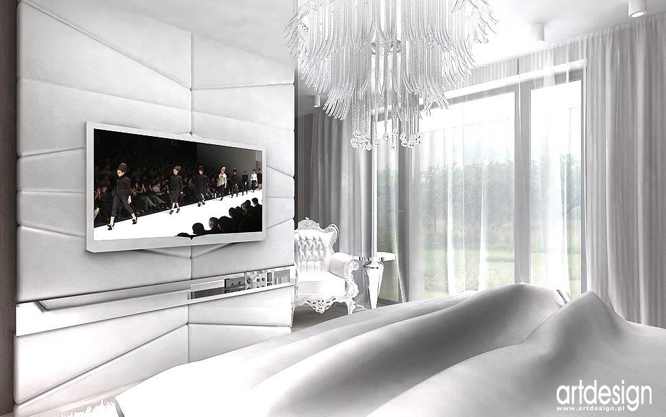 aranżacja wnetrz krakow projekt projekt sypialni nowoczesnej