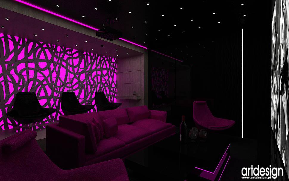 Rezydencja w Zabrzu Architektura wnętrz salon, kino domowe, hol  Projektow   -> Inspiracje Domowe Kuchnia