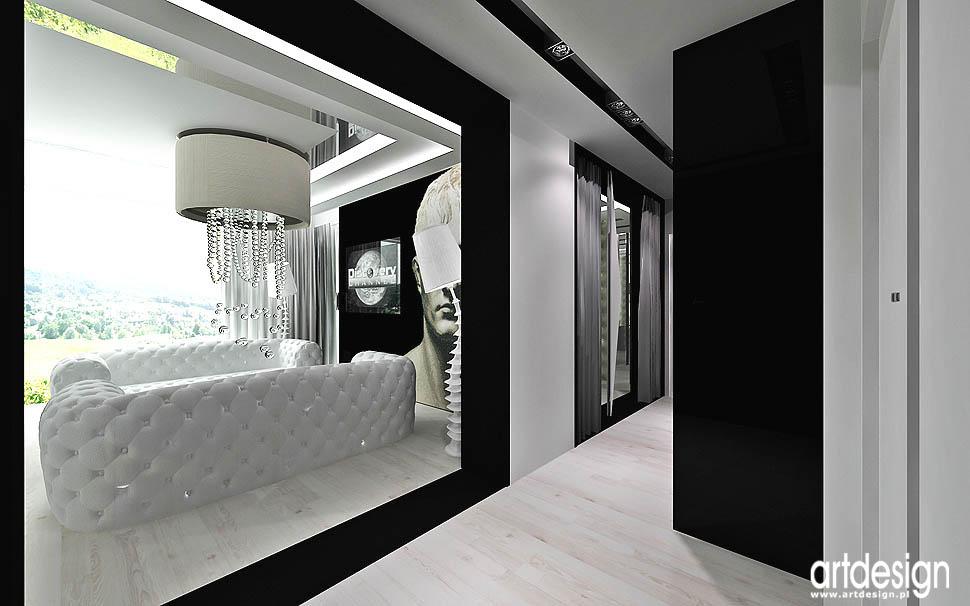 wnetrze apartamentu luksusowe projekty aranzacje salonu korytarz