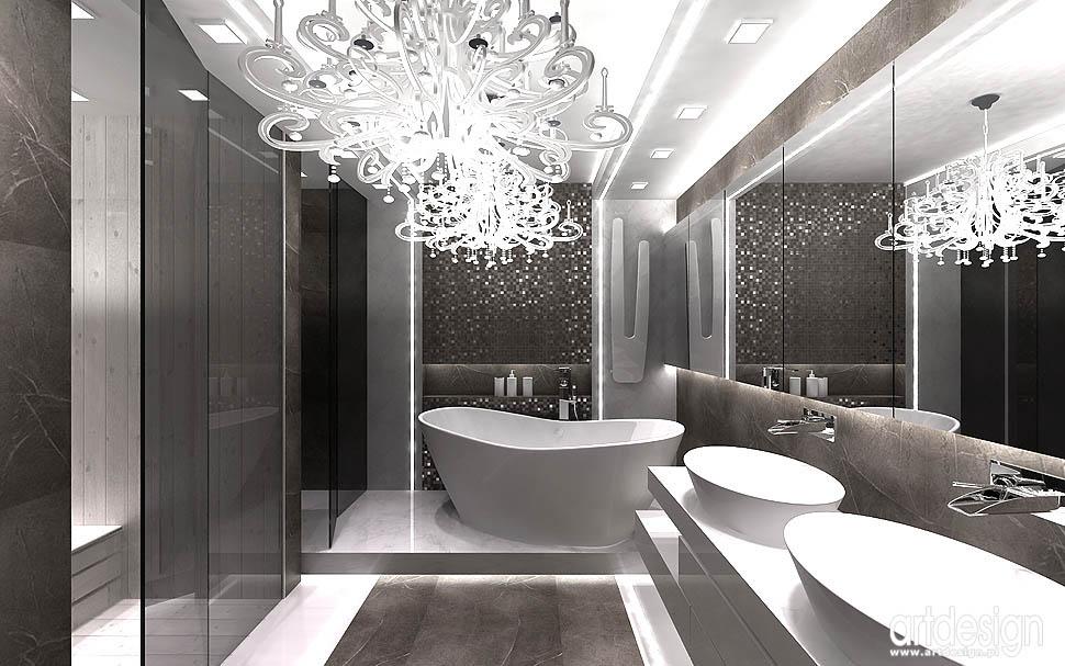 apartament pokazowy projekt krakow salon kąpielowy