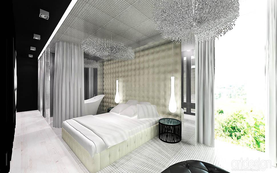 aranzacja wnetrza sypialnia nowoczesna
