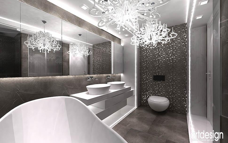 wnetrza krakow aranzacje nowoczesna łazienka