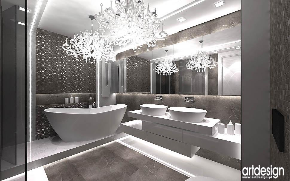 design wnetrza kraków projekty apartamenty nowoczesna łazienka