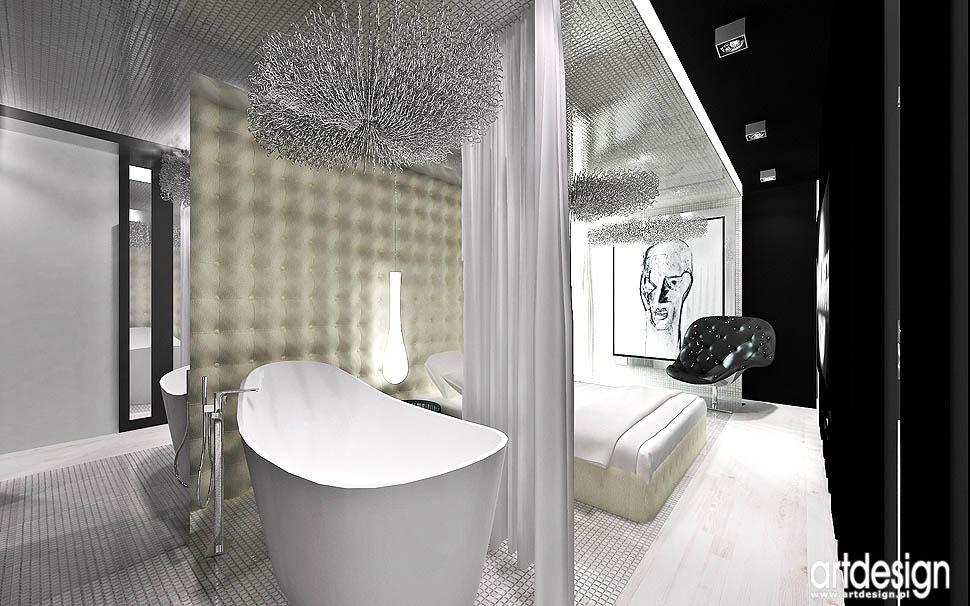 sypialnia nowoczesny luksusowy design projekty aranzacje