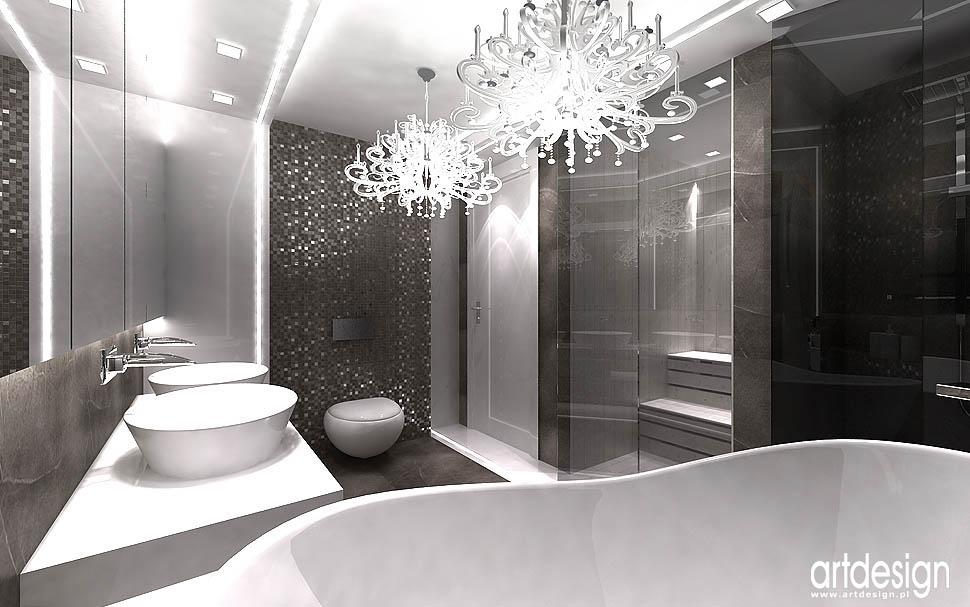 designerskie wnetrza projekty aranzacje sauna łazienka