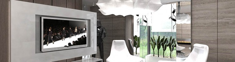 architektura wnętrz apartamentu salon nowoczesny