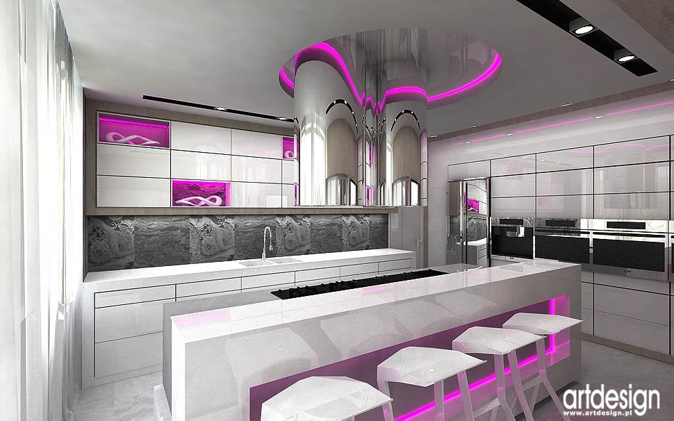 Rezydencja W Zabrzu Projekt Wnetrza Kuchnia Jadalnia Hol
