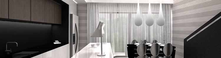 projektowanie nowoczesnych wnetrz krakow salon jadalnia