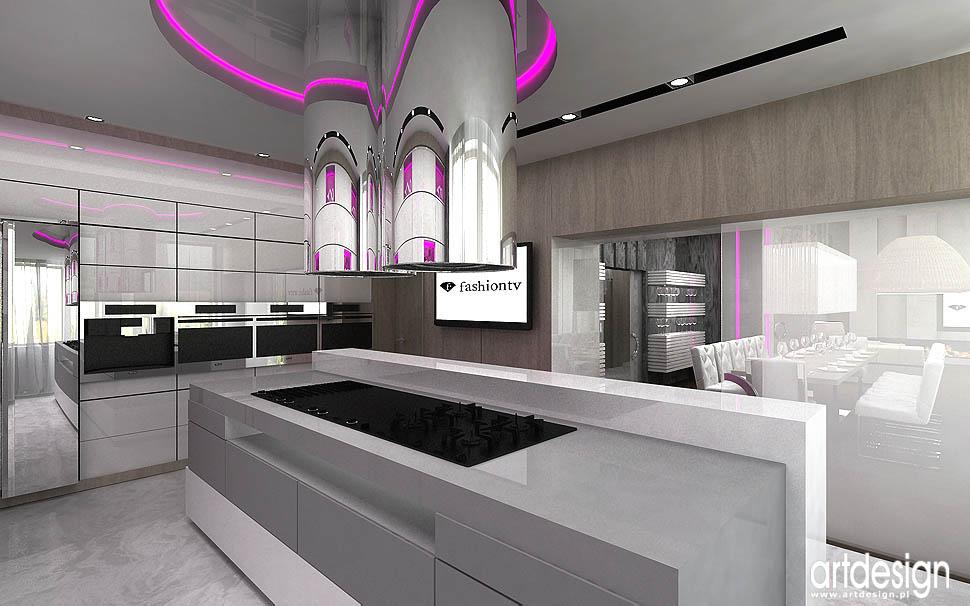 Rezydencja W Zabrzu Projekt Wnętrza Kuchnia Jadalnia Hol