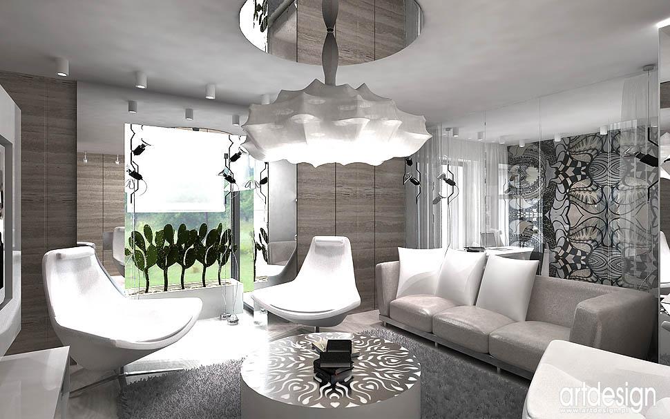 projekt wnetrza apartamentu salon aranżacja