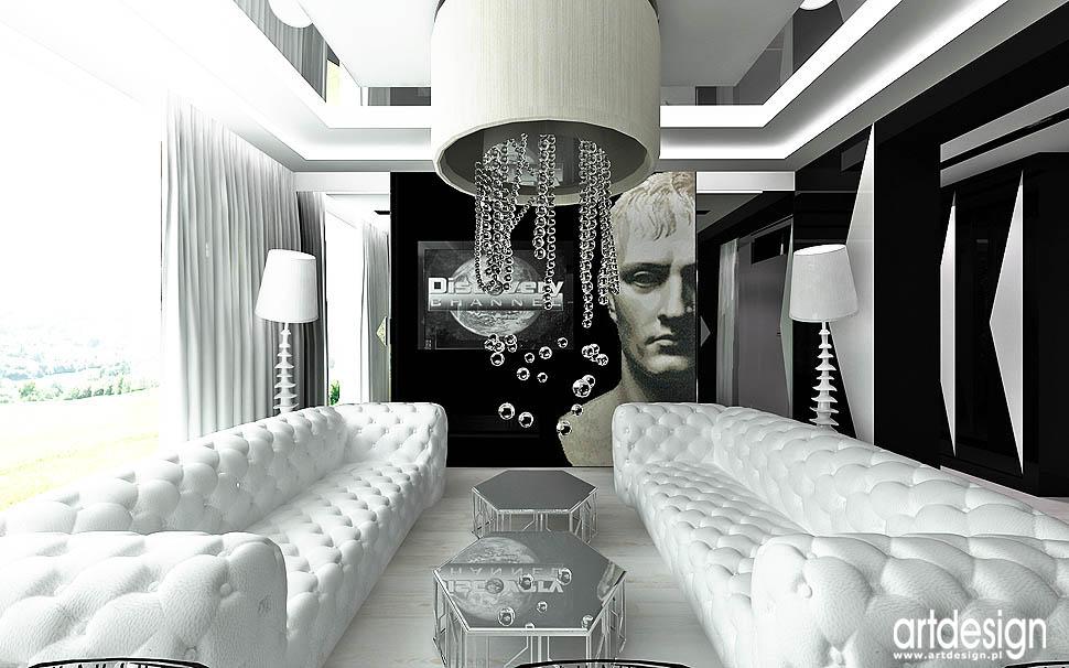 aranżacja wnętrza apartament nowoczesny design pokój dzienny