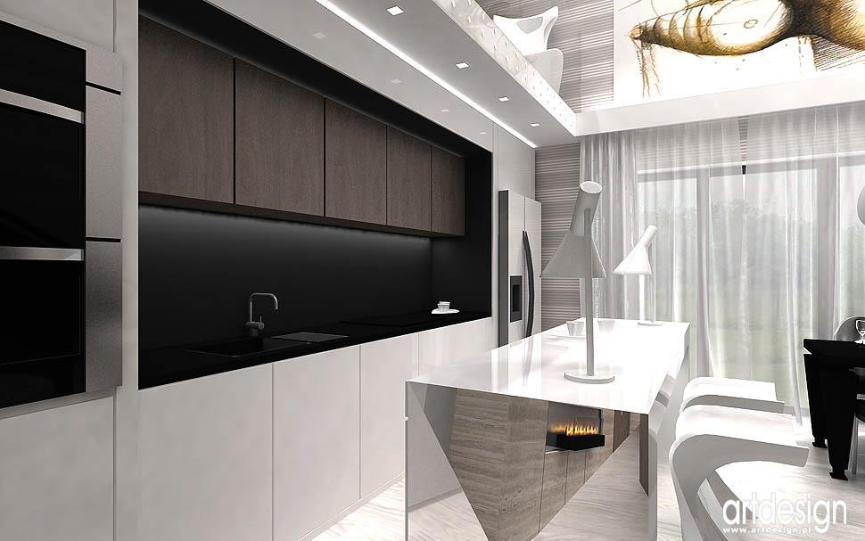 wnetrza nowoczesne mieszkania apartamenty Kraków kuchnia z wyspa