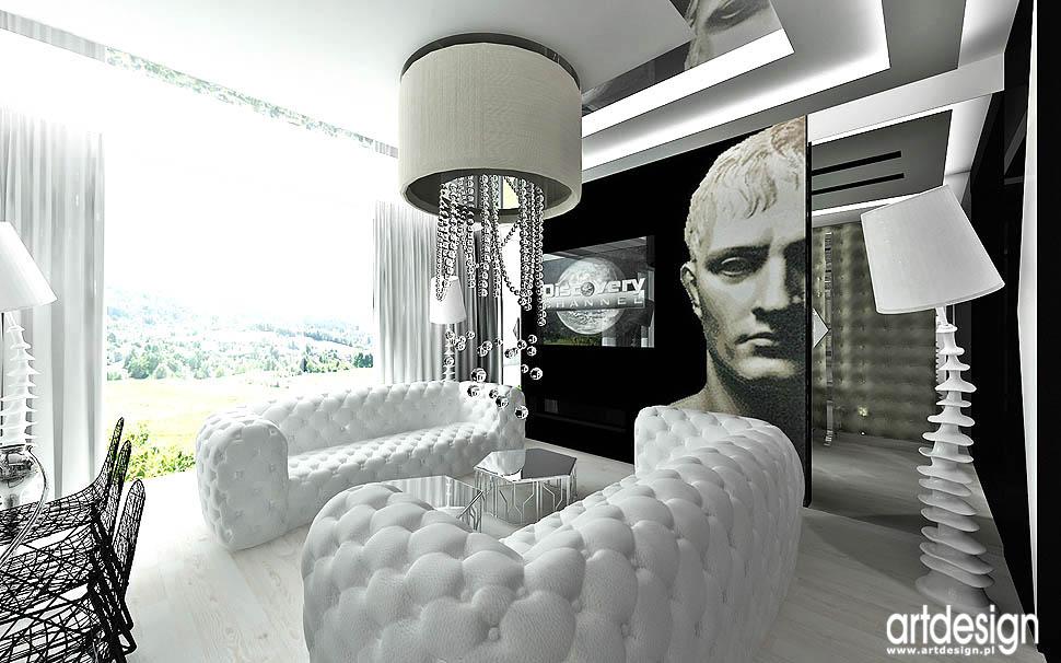 wnetrza nowoczesnych apartamentow projekty salonu