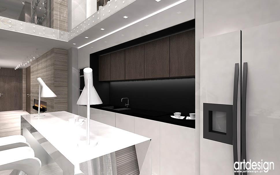 projekty nowoczesnych wnetrz mieszkan apartamentow krakow otwarta kuchnia