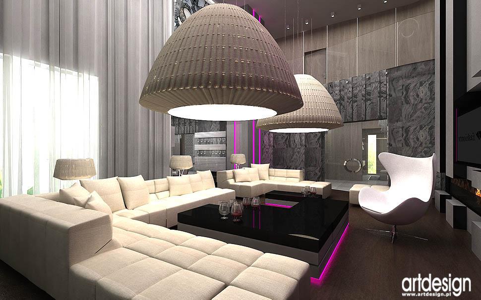 aranzacja wnetrza projekt dom salon luksusowy