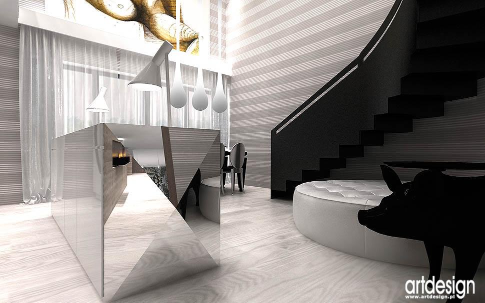 luksusowe wnętrza realizacje apartamentow Kraków jadalnia