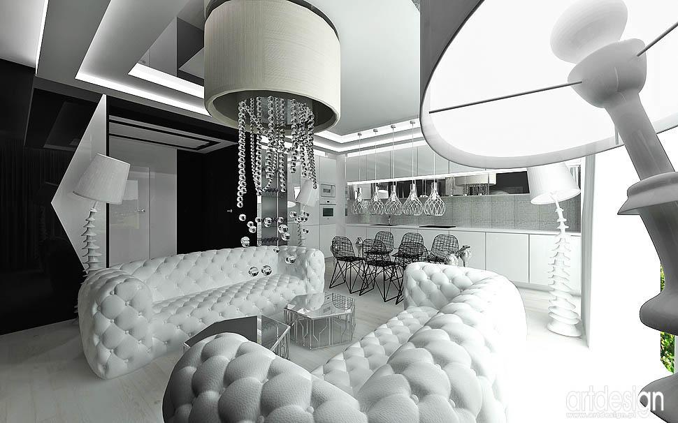 wnetrze apartamentu nowoczesny design aranżacja jadalni i kuchni