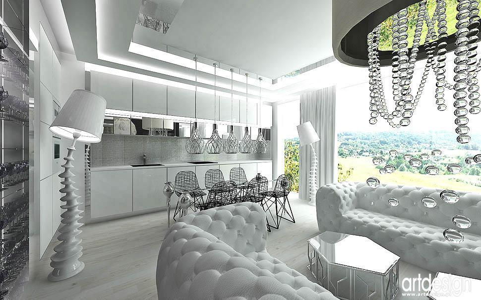 projektowanie wnetrz architekci design kuchnia otwarta jadalnia