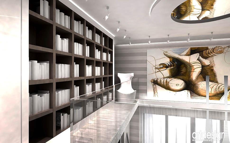 luksusowe wnetrza mieszkań apartamentów realizacje kraków antresola biblioteka