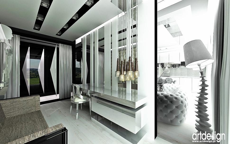 aranzacja wnetrze projekt design domowe biuro