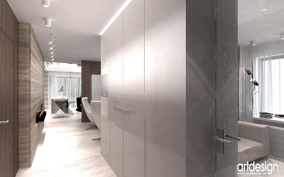 nowoczesne wnętrza apartamentów salon korytarz