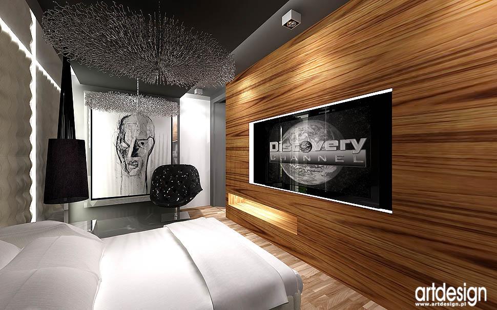 projekty wnetrz nowoczesna sypialnia