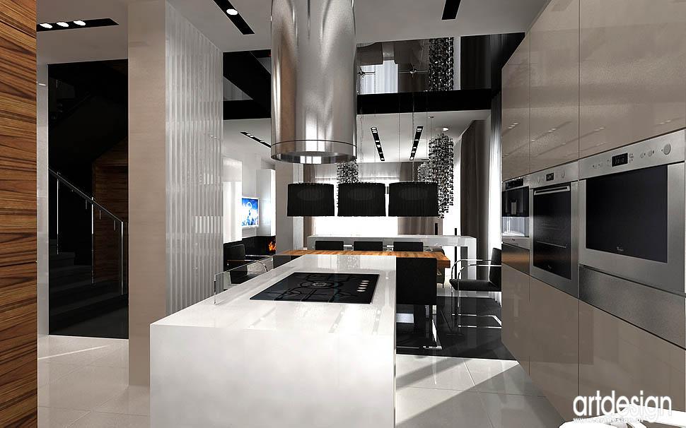 wnetrze domu kuchnia projekty wnetrz nowoczesna kuchnia z wyspą