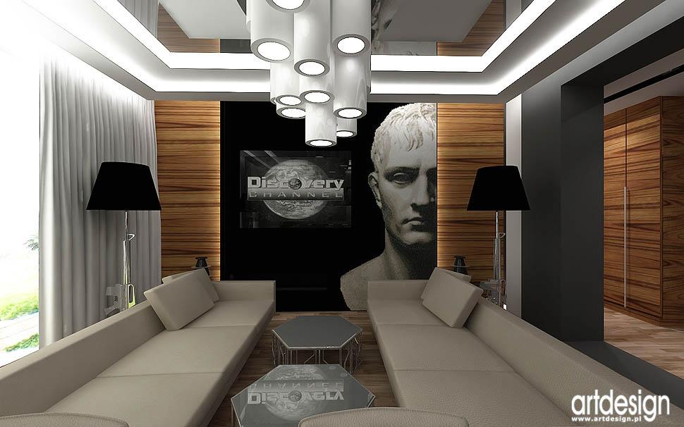 wnętrze nowoczesne salonu aranżacja