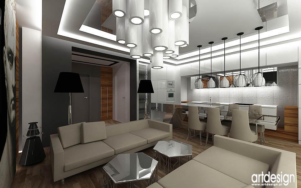 architektura wnętrz aneks kuchneny i pokój dzienny