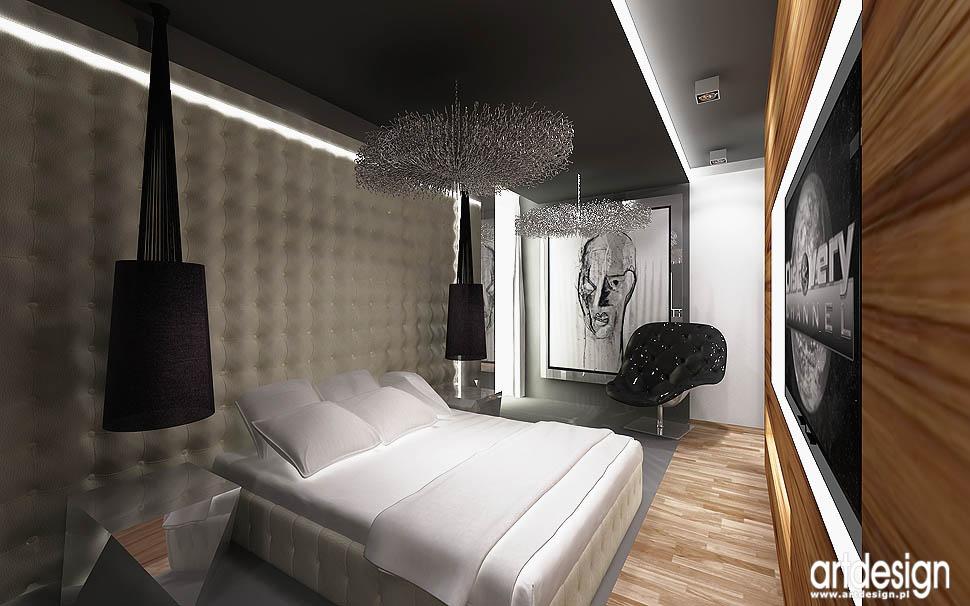 wnetrza architektura design luskusowej sypialni