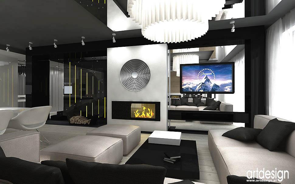 projekty wnętrz kraków design domu salonu