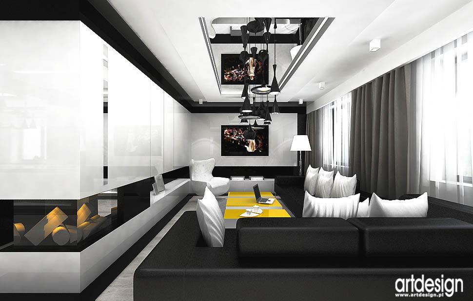 wnętrze projekty dom salon nowoczesny