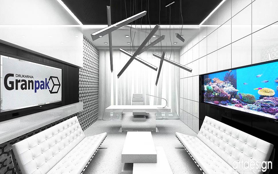 designerski gabinet projekt wnetrza architektura