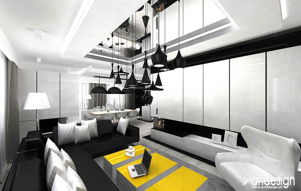 projekty design wnętrza salonu