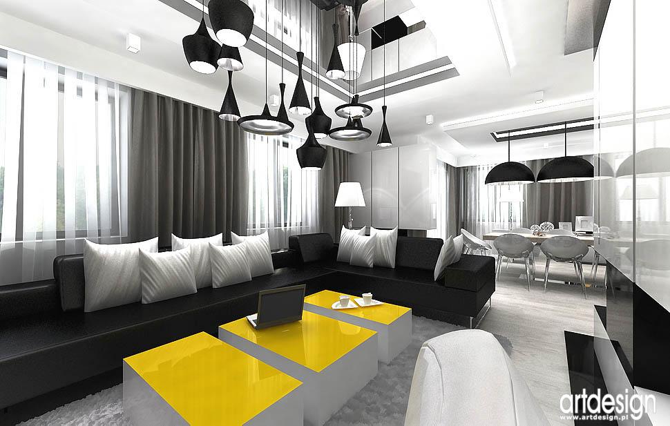 architektura wnętrz design salon i jadalnia