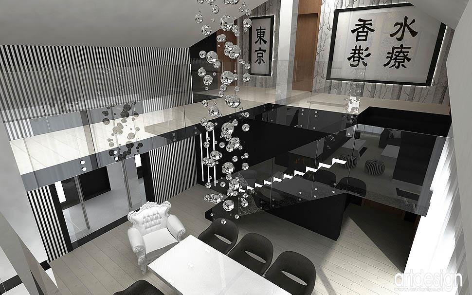 wnętrza design antresola jadalnia salon